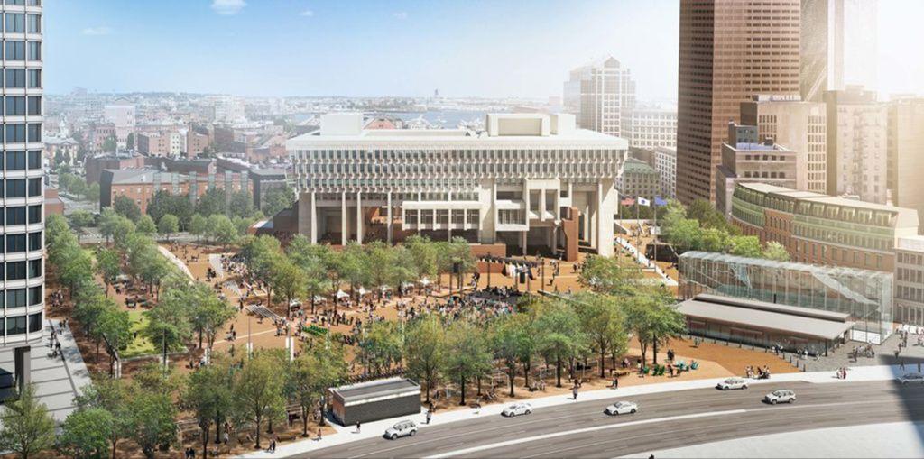 Boston City Hall Celebrates 50th Anniversary Prepares For Major Renovation Boston City Hall Amazing Architecture Brutalist