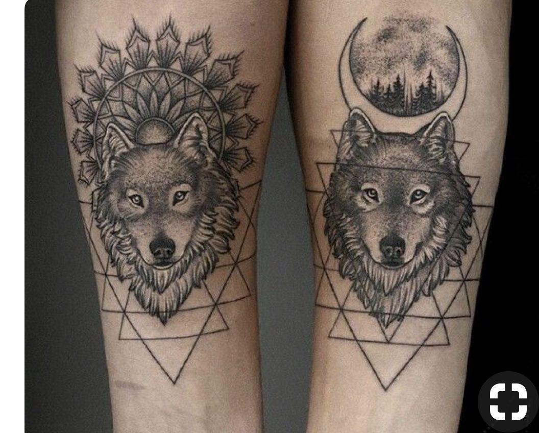 Boy Girl Best Friend Matching Tattoos Tattoooo Wolf Tattoos