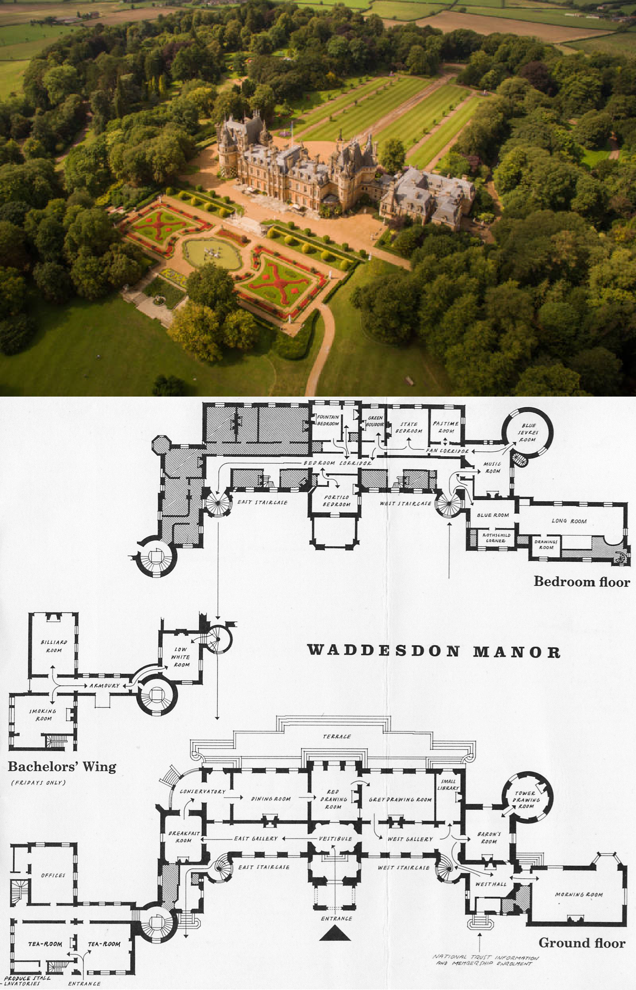 Waddesdon Manor England Castle Floor Plan Mansion Floor Plan Architectural Floor Plans
