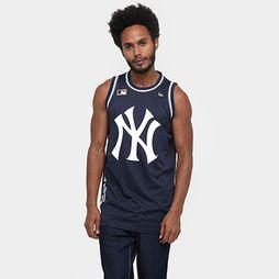 13c97c22d1c89 Camiseta Regata New Era Bascket Nova New York Yankees - Marinho ...