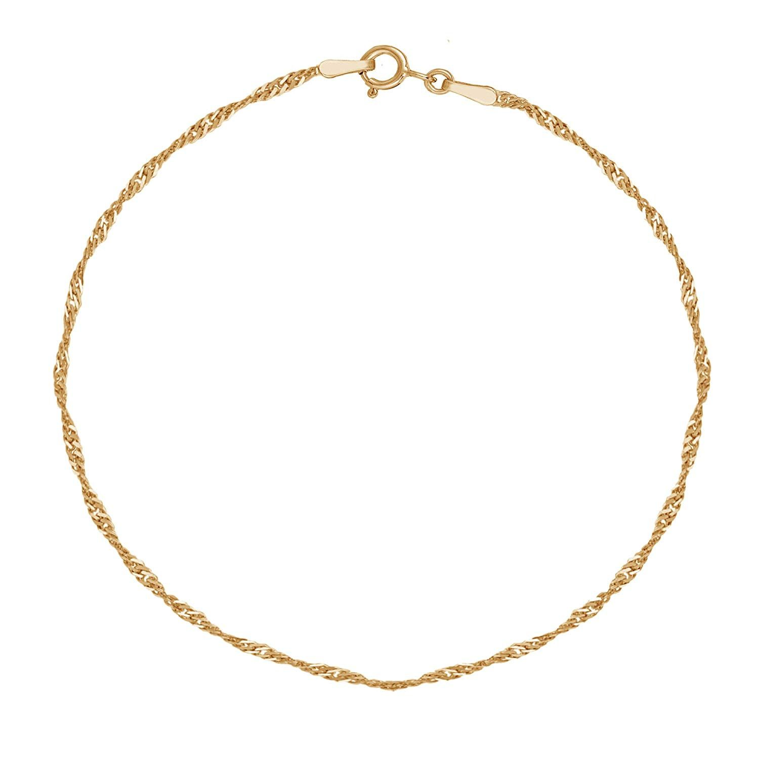 10k Yellow Gold Singapore Anklet 10 Inches Sincerely Hope You Love The Picture This Is An Affiliate Link Ankl Ankle Bracelets Rope Pendant Women Anklets