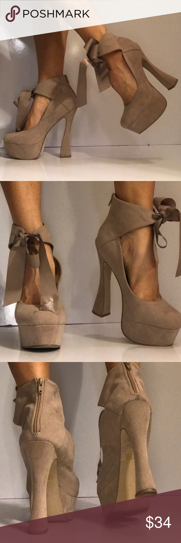59ca24d14138 Size 9 baby doll platform - UNIQUE I m having a hard time parting with  these. Foot surgery on the way! You can have them now! So fun! styluxe Shoes  ...
