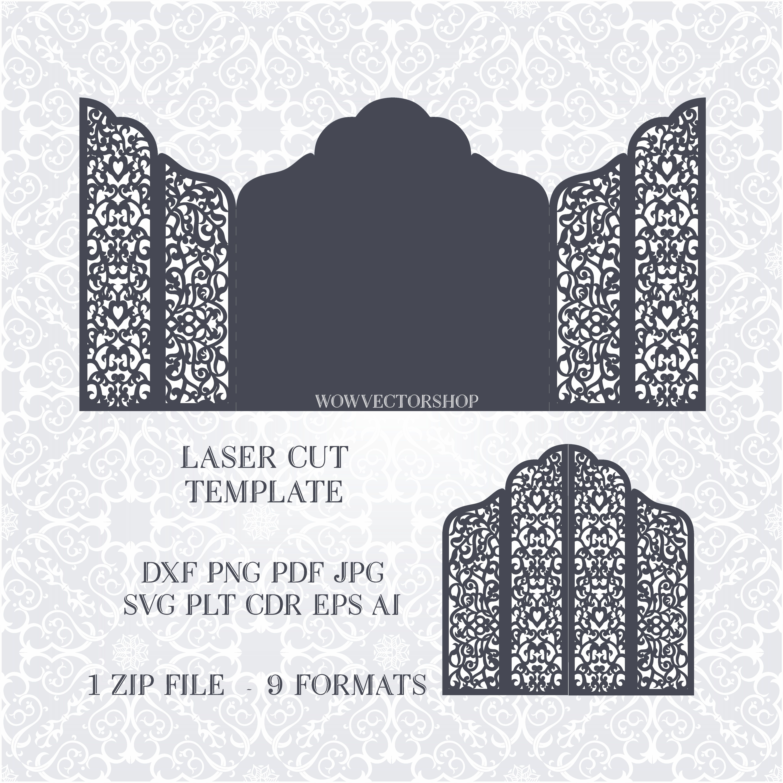 wedding template cut / Wedding invitation - Wedding Templates, SVG ...
