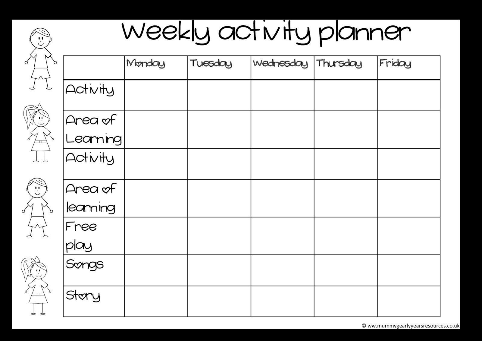 Blank Activity Calendar Template 28 Templates Also With Activity