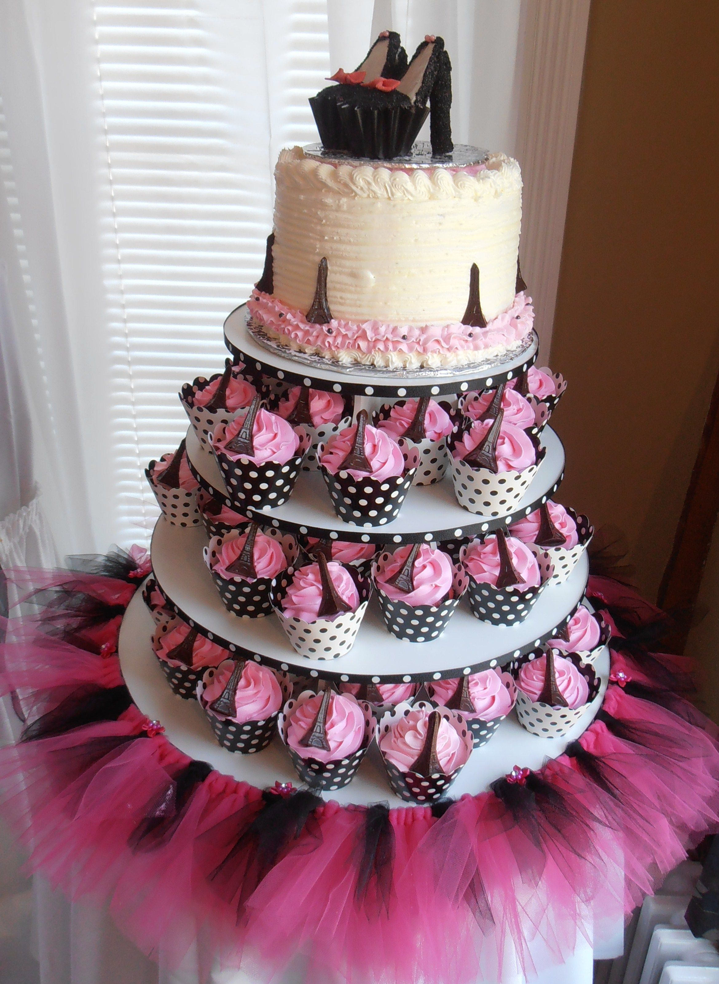 I Need Ideas For Decorating My Living Room: Paris Themed Cupcake Tower