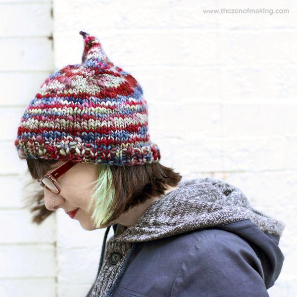 Knitting Pattern: Easy Grownup Pixie Hat | The Zen of Making ...