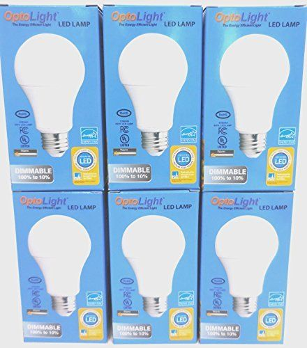 Opto Led Light Bulbs A19 10 Watt 60watt Equivalent Led Lights 25000 Hours White Led Bulb Medium Screw Base Led Home Lightin Led Light Bulbs Led Bulb Led Lights