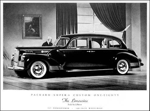 1942 Packard Super 8 Custom 180 Limousine by Lebaron