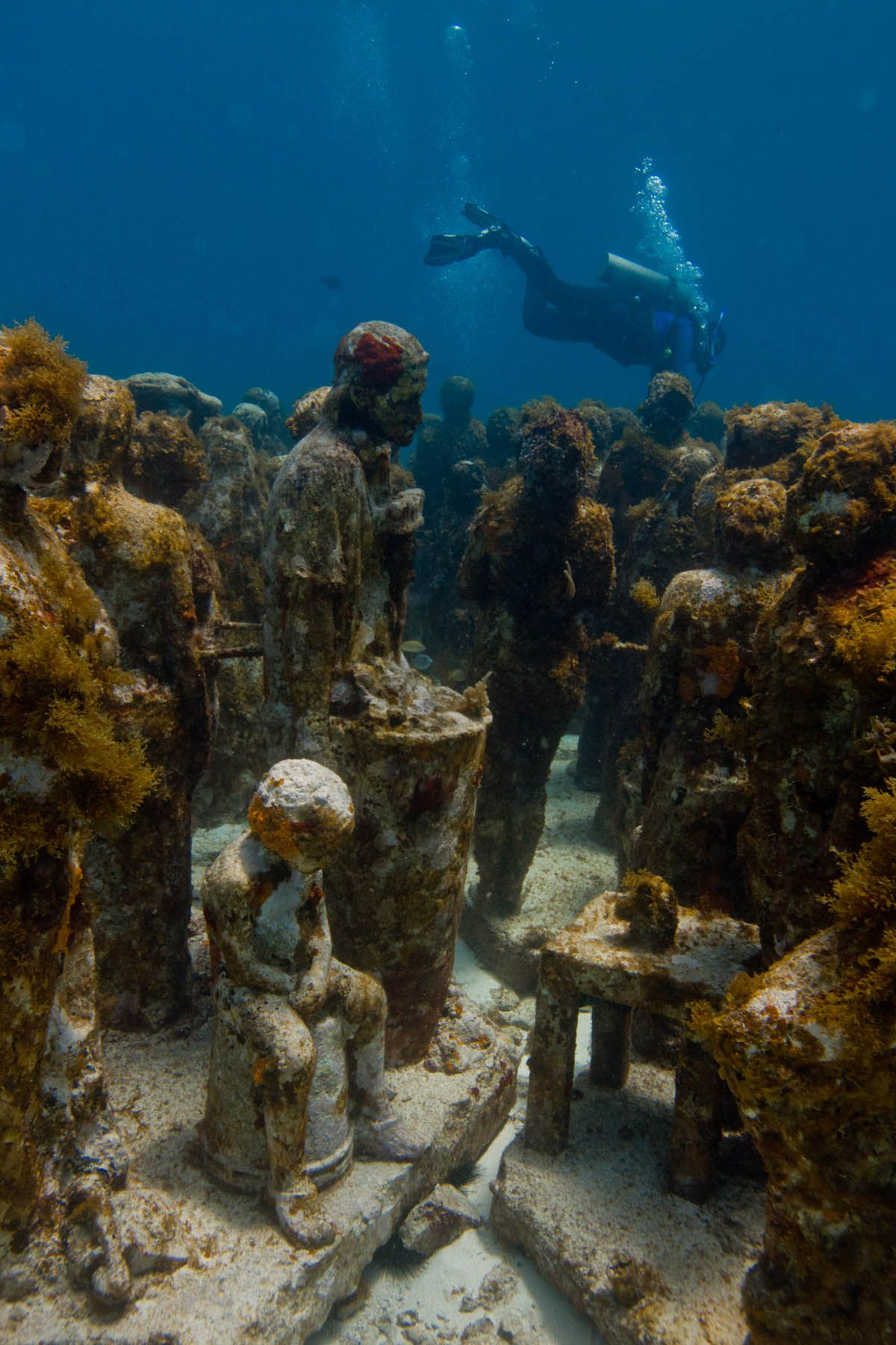 """musa"" Cancun Underwater Museum Mexico 2013 Silent"