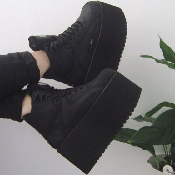 Grunge shoes, Goth shoes, Aesthetic shoes