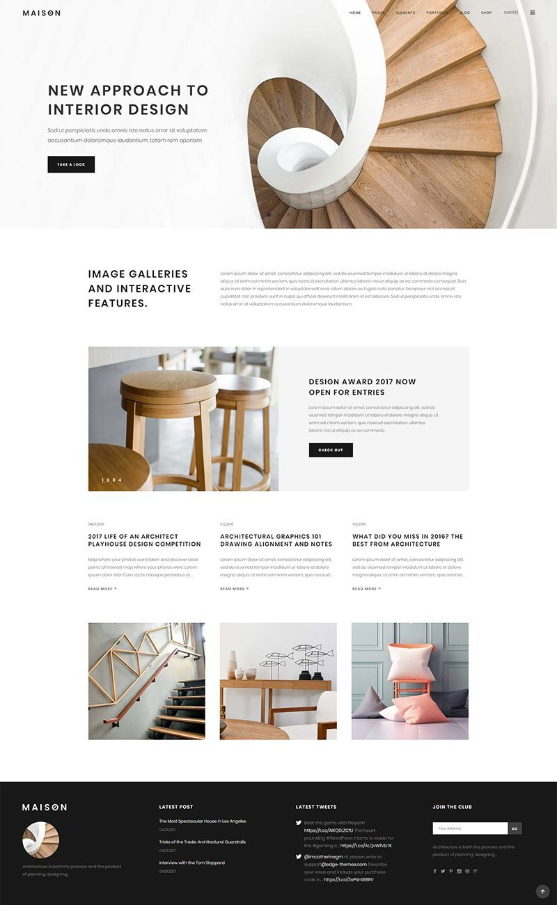 Maison wordpress theme has all it takes for a beautiful online presentation a large set