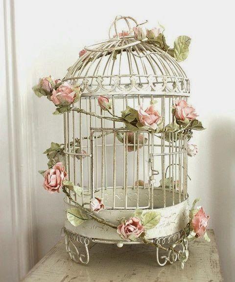 15 jaulas de p jaro inspiradoras para una decoraci n - Decorar estilo shabby chic ...