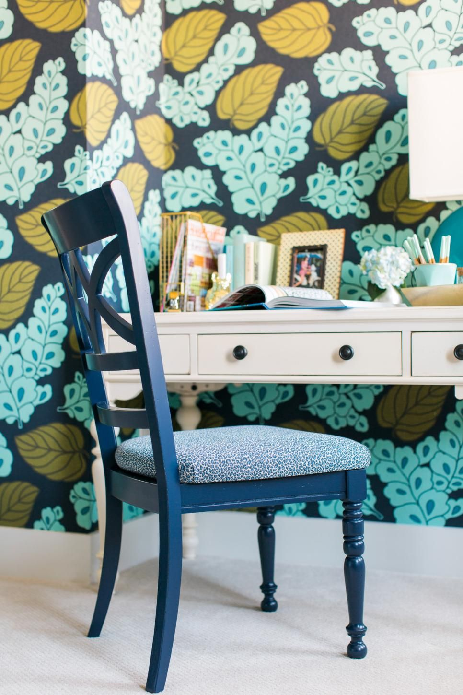 Delightful Guest Bedroom Pictures From HGTV Smart Home 2016. Green Floral WallpaperBedroom  ...