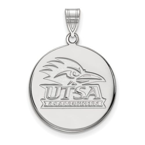 925 Sterling Silver Rhodium-plated Laser-cut University of Louisville Large Pendant w//Necklace 18
