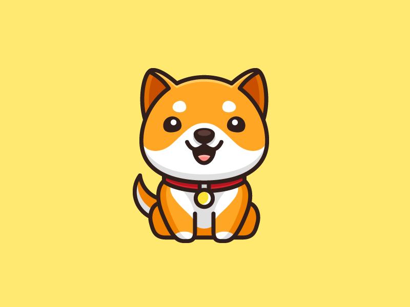 Shiba Puppy Pet Logo Design Shiba Puppy Puppy Art