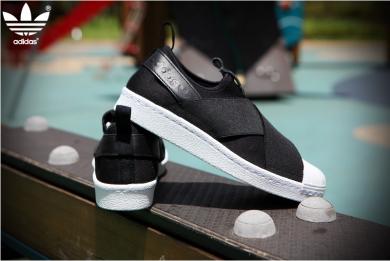 Adidas Damen Originals Superstar Slip on Schuhe Schwarz S81337