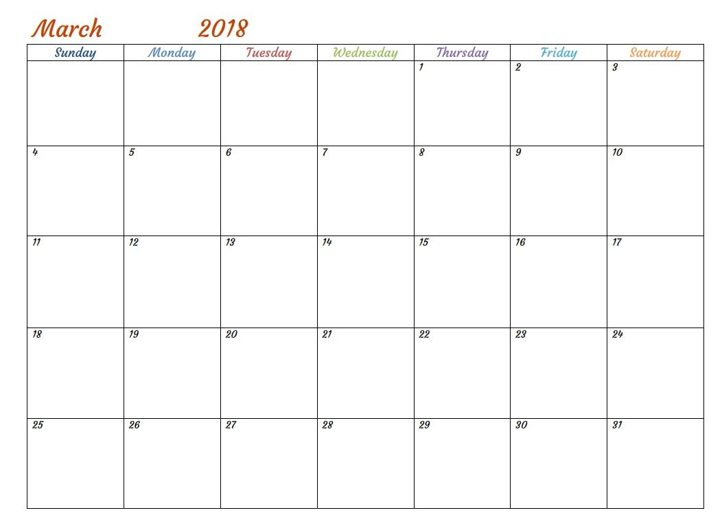 Free Printable March  Calendar  Maxcalendars