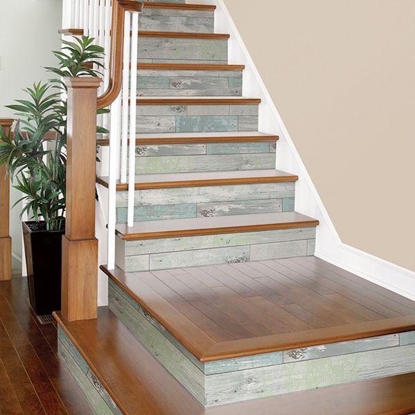 Beachwood Peel And Stick Wallpaper By Nuwallpaper Stairs Design Stair Remodel Diy Stairs