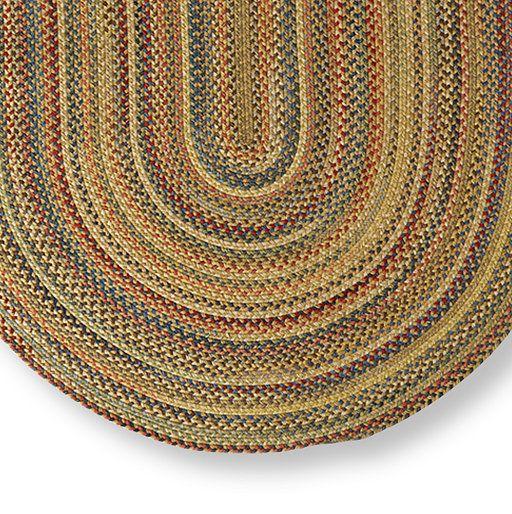 Braided Wool Rug, Oval