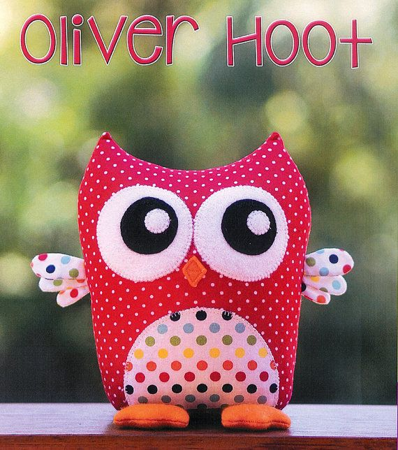 Pattern \'\'Oliver Hoot\'\' Owl Soft Sculpture, Stuffed Toy, Softie ...