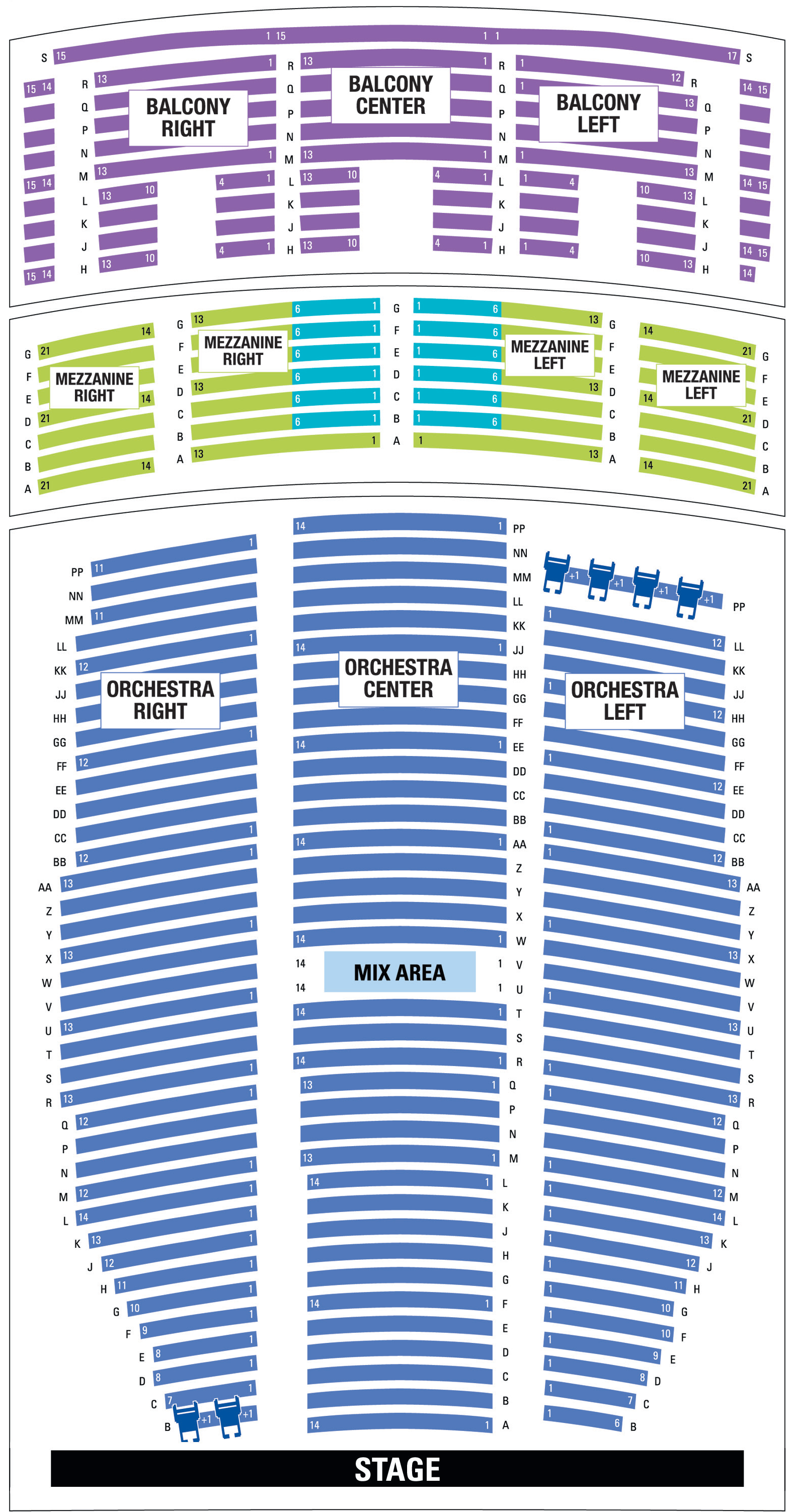 Paramount Denver Seating Map The Incredibles Seating Charts Orchestra