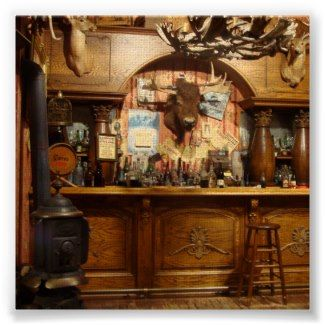 One way to keep me out Decorate the man cave like a wild west