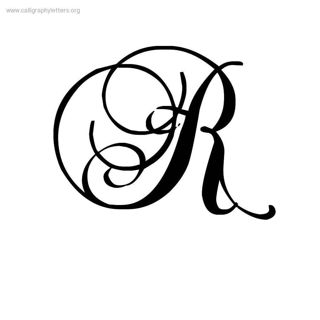 Calligraphy letter r um writing stuff i guess