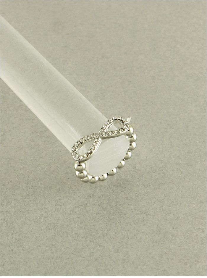 Giving away this Sweet Infinity Silver Sparkling Ring Today !
