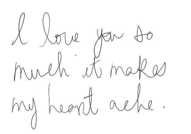 heart ache. #words