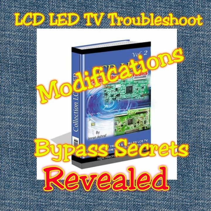 LCD LED TV Panel Bypass methods and tricks eBooks  +