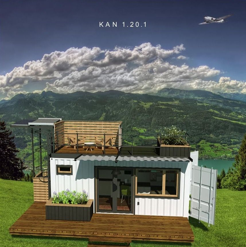 This is the KAN shipping container tiny home by Kyle Kozak. It's a modular shipping container home that can be built and shipped almost anywhere. From the outside, you'll notice the cla…