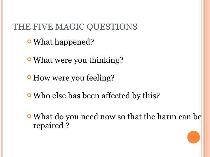 Image Result For Restorative Practices Questions With Images