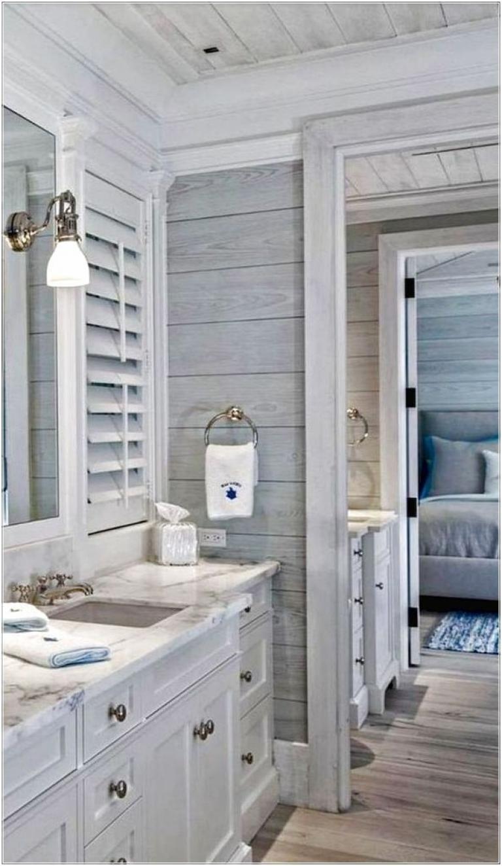 25 rustic farmhouse bathroom decor  design ideas  beach