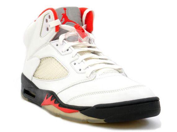 competitive price c13ad f2dbf Air Jordan V – White – Black – Fire Red