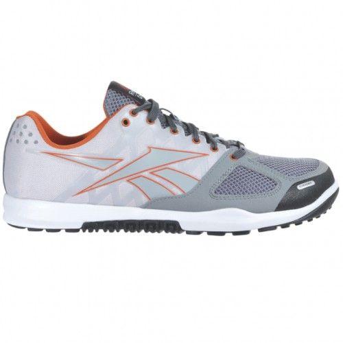 3925c3f5084887 Reebok Crossfit Nano 2.0 Mens Training Shoe M44462 Flat Grey-Steel-Orange