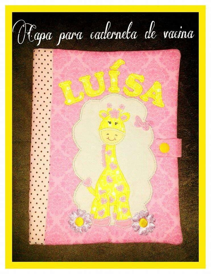 Capa para caderneta de vacina girafinha