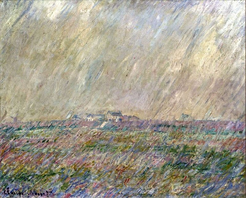 Image result for monet paints the rain