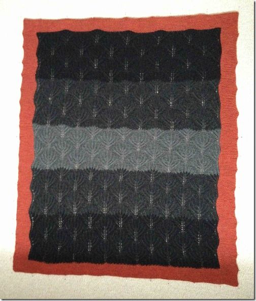 Baby Blanket with Fan | Anns Knitting and Such blog