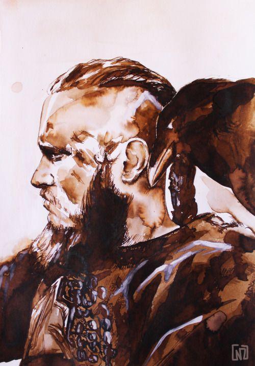 #RagnarLothbrok by Naizu #vikings #vikingsart