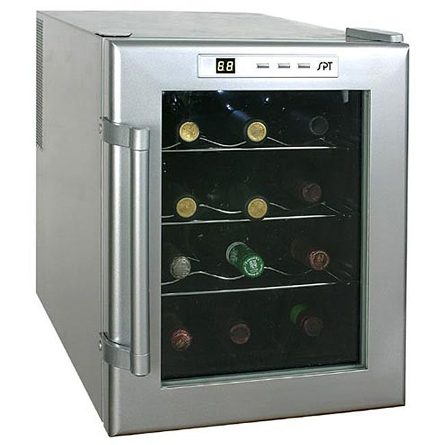 Electric Wine Cooler 12 Bottle Drink Soda Beer Fridge Refrigerator Glass Door Spt Thermoelectric Wine Cooler Wine Cooler Beverage Cooler