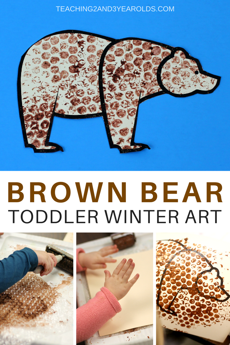 Winter Bear Art For Toddlers Using Bubble Wrap Toddler