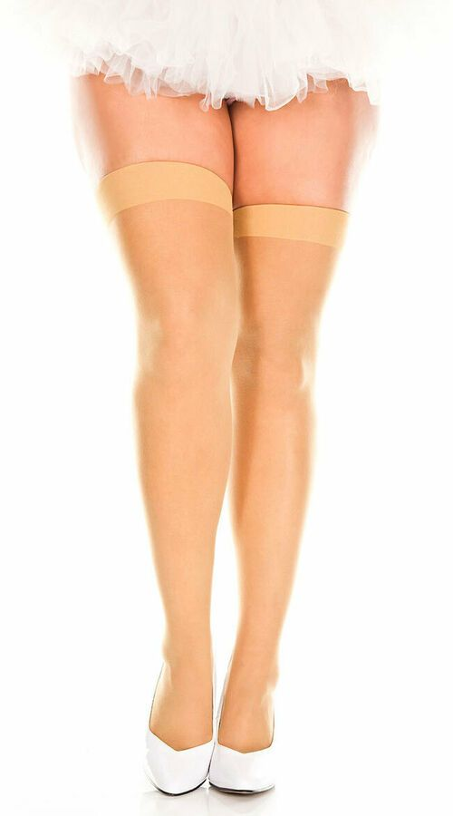 76d159988 Queen Womens Plus Size Sheer Thigh High