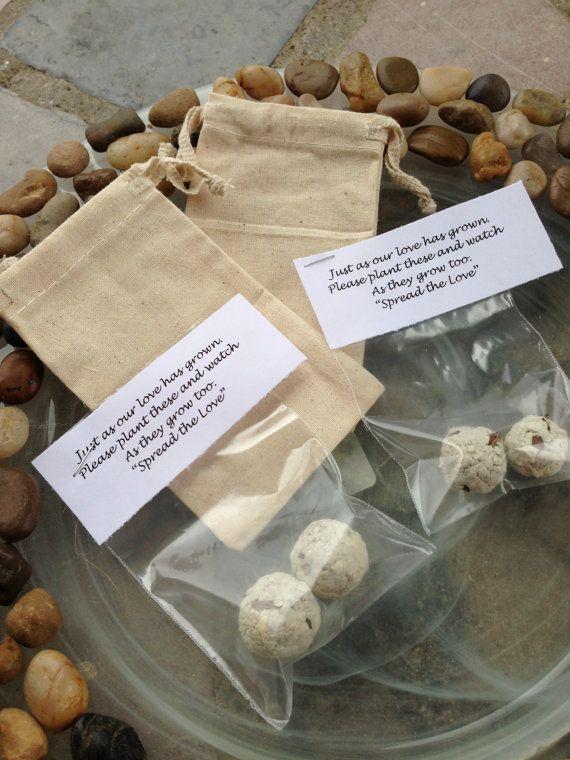 Flower Seed Bomb Favors Filler Only Wedding By Krystlesweddings