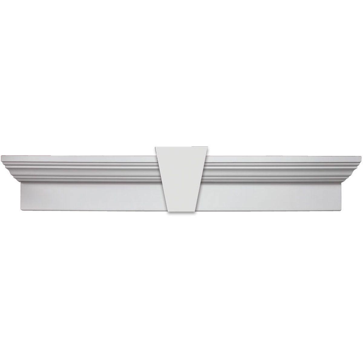 Veranda 3 4 In X 1 1 2 In X 8 Ft White Pvc Trim 15 Pack 827000000 The Home Depot Pvc Trim Pvc Board Pvc Trim Boards