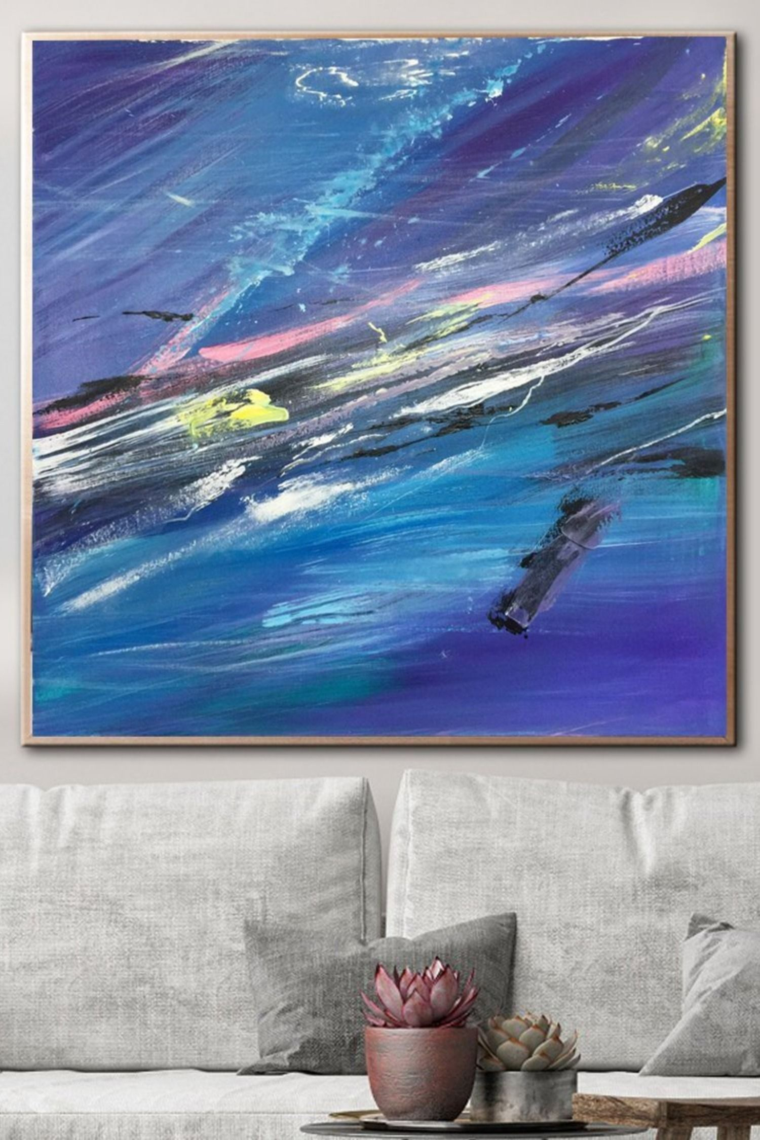Royal Blue Art Abstract Blue Painting Extra Large Abstract Etsy Blue Abstract Painting Blue Abstract Art Blue Painting