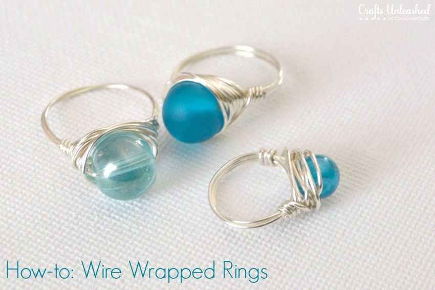 Wire Rings Tutorial: How To Make Wire Wrapped Bead Rings | Ring ...