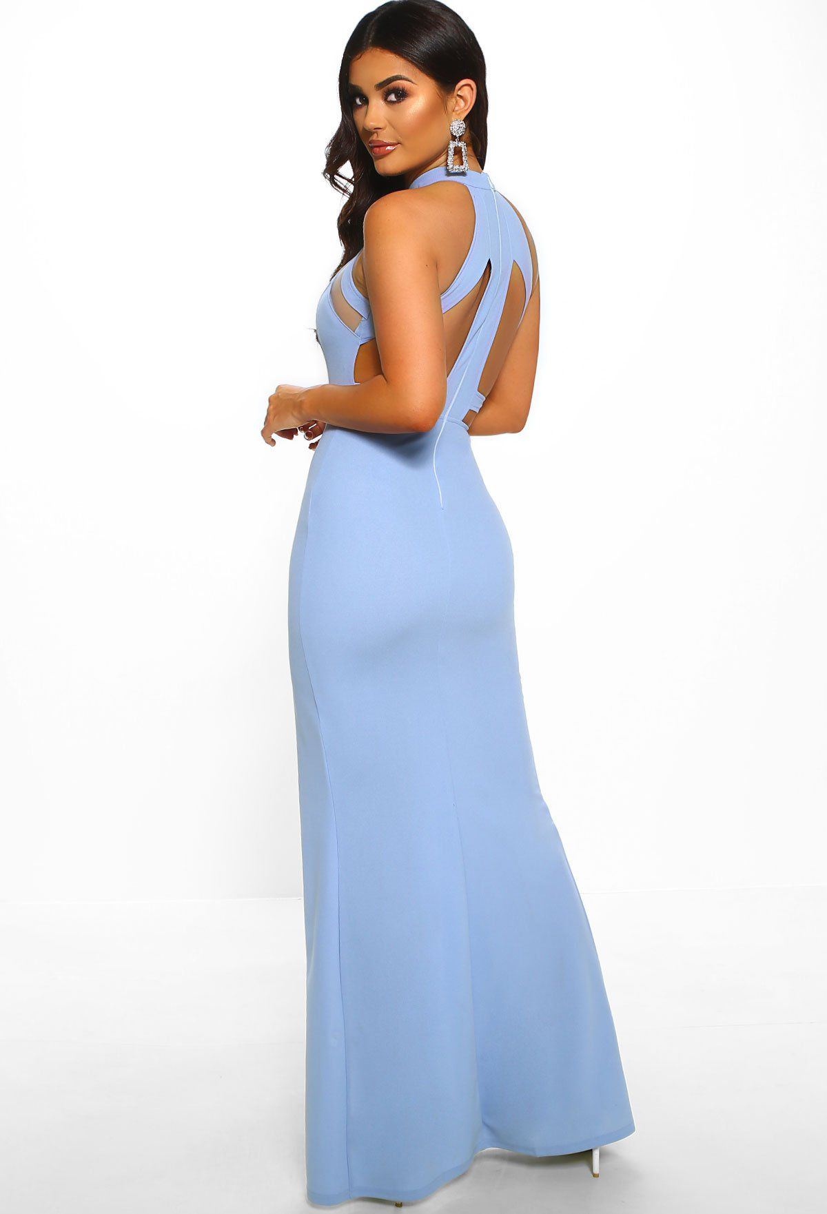 Miss Congeniality Powder Blue Cut Out Maxi Dress 12 In 2019