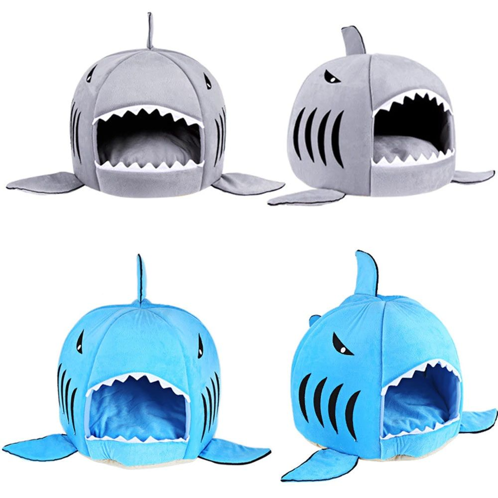 Shark Shape Cat Bed Kitten Accessories Dog Bed Small Dogs