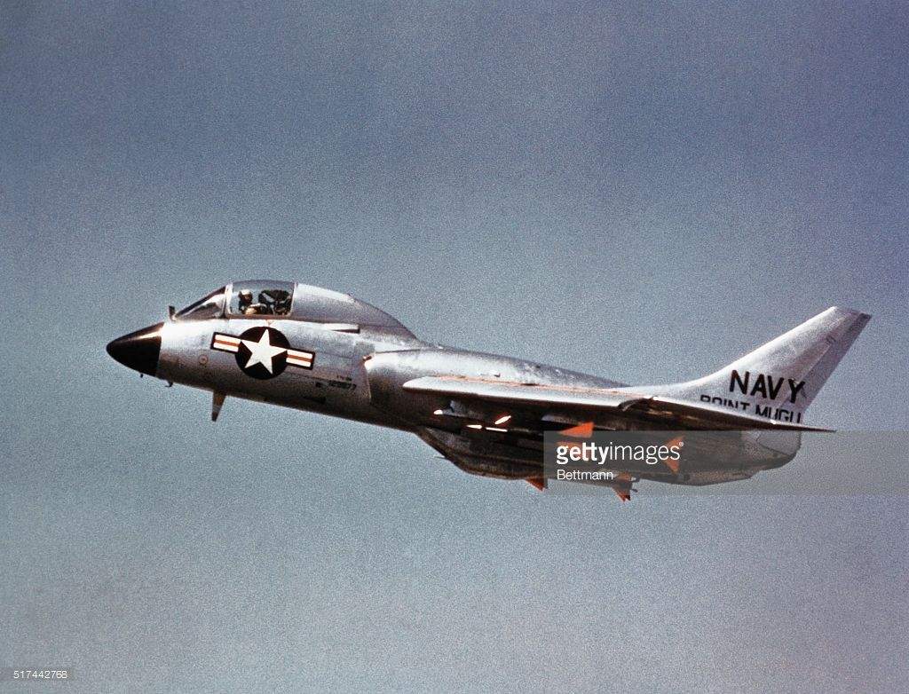 The U S Navy F7u Chance Vought Cutlass Jet Fighter With Air To Air Picture Id517442768 1024 782 Fighter Jets Us Navy Aircraft Fighter