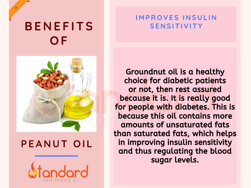 Groundnut Oil Helps To Improves Insulin Sensitivity Healthy Oils Peanut Oil Oils